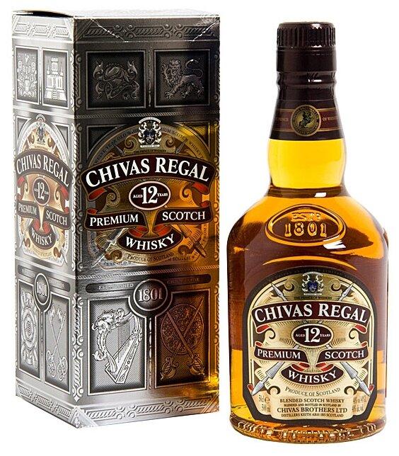 Виски Chivas Regal Blend De Lux 12 лет, 0.5 л, подарочная упаковка