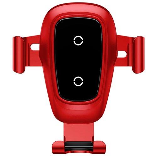 Купить Держатель с беспроводной зарядкой Baseus Metal Wireless Charger Gravity Car Mount (Air Outlet Version) красный