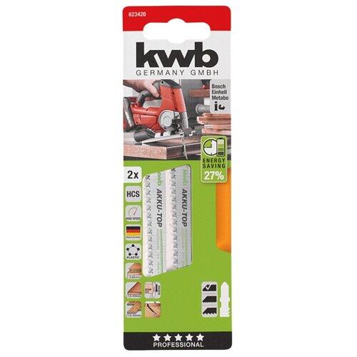 Набор пилок для лобзика kwb 623420 2 шт. набор абразивных насадок kwb стандарт для мфу 3 шт