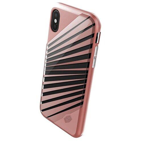 Чехол-накладка X-Doria Revel Lux для Apple iPhone X rose gold rays