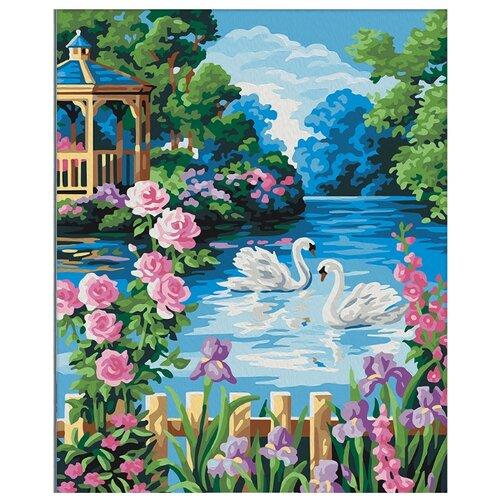 Купить Мосфа Картина по номерам Беседка у озера 40х50 см (7C-0217), Картины по номерам и контурам