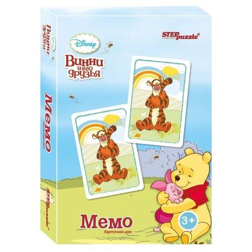 Фото - Настольная игра Step puzzle Медвежонок Винни Мемо Карточная игра (Disney) комп белья disney медвежонок винни 3 пред желтый polini