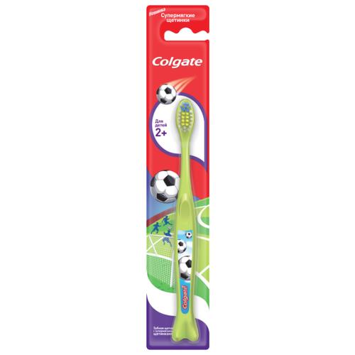 Зубная щетка Colgate Для Детей 2+, зеленый colgate зубная щётка для детей от 2 до 5 лет spiderman colgate синий зеленый