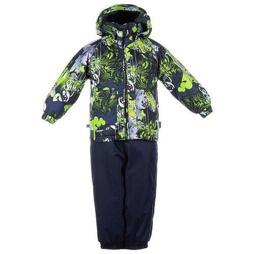 Комплект с брюками Huppa размер 86, 82847 lime pattern/ navy комплект с полукомбинезоном huppa размер 92 82847 lime pattern navy