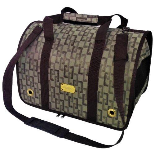 Переноска-сумка для кошек и собак LOORI Z2191 31х20х22 см коричневый переноска сумка для кошек и собак loori z8708 z8746 46х28х29 см розовый
