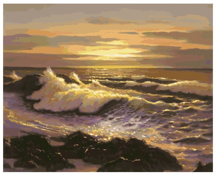 """Белоснежка Картина по номерам """"Океанский прибой"""" 40х50 см (910-AB)"""