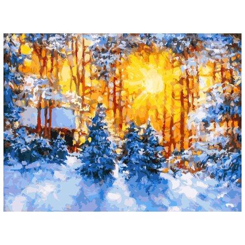 Купить Белоснежка Картина по номерам Февраль 30х40 см (224-AS), Картины по номерам и контурам