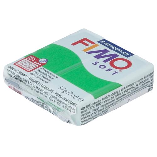 Купить Полимерная глина FIMO Soft запекаемая тропический зеленый (8020-53), 57 г, Глина