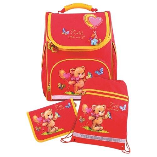 Купить Феникс+ Ранец Мишка с шариками с наполнением, красный, Рюкзаки, ранцы