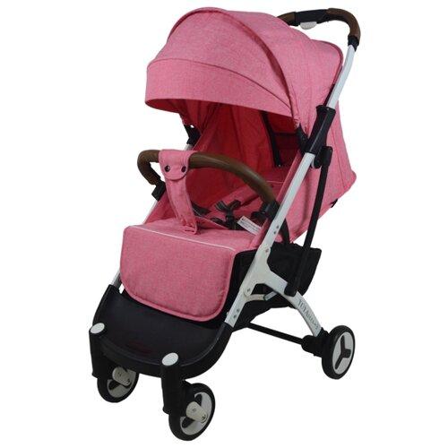 Прогулочная коляска Yoya Plus 3 (дожд., москит., подстак., бампер, сумка-чехол, бамбук. коврик, корзина д/пок, ремешок на руку, накидка на ножки) pink/white frame, цвет шасси: белый