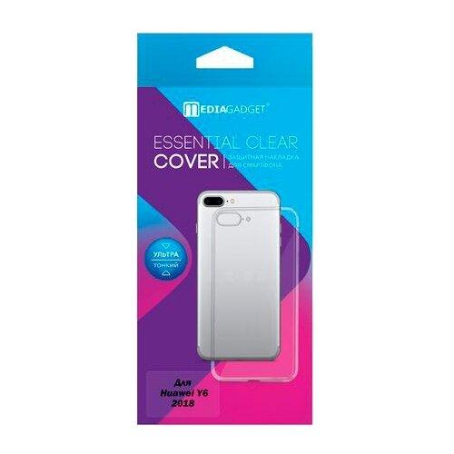 Купить Чехол Media Gadget ESSENTIAL CLEAR COVER для Huawei Y6 2018 прозрачный