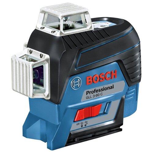 Лазерный уровень самовыравнивающийся BOSCH GLL 3-80 C Professional + AA 1 (0601063R00) уровень bosch gll 3 80c 15м 0601063r00