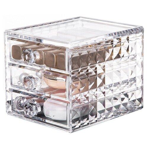UVOO Органайзер для косметики и аксессуаров Beauty Box 2 прозрачный органайзердлякосметики uvoo органайзердлякосметики
