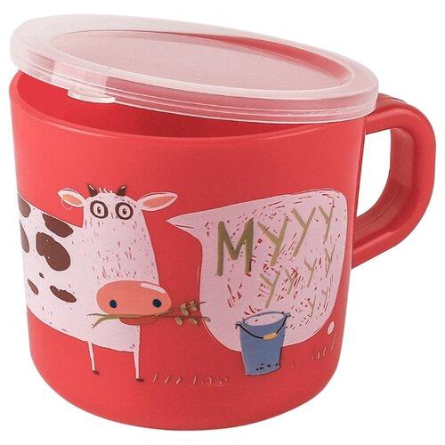 Чашка Happy Baby с ручкой и крышкой (15043) ruby чашка с крышкой mukko home чашка с крышкой