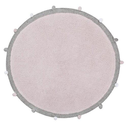Фото - Ковер Lorena Canals с помпонами, диаметр: 1.2 м, розовый ковры lorena canals ковер с помпонами 120d