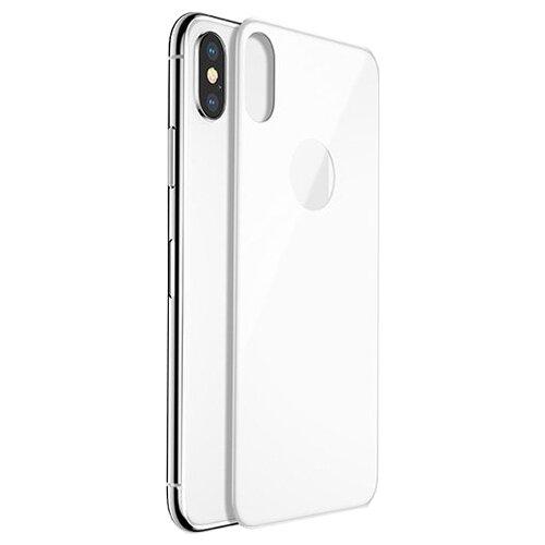 Защитное стекло Baseus 4D Back Tempered Glass Film для Apple iPhone X silverЗащитные пленки и стекла<br>