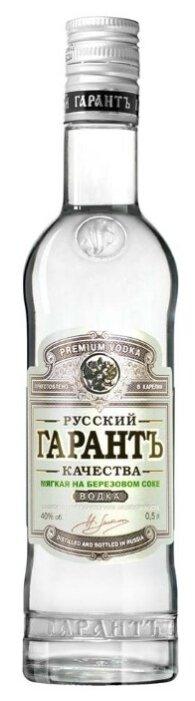 Водка Русский гарантъ качества мягкая на березовом соке, 0.5 л
