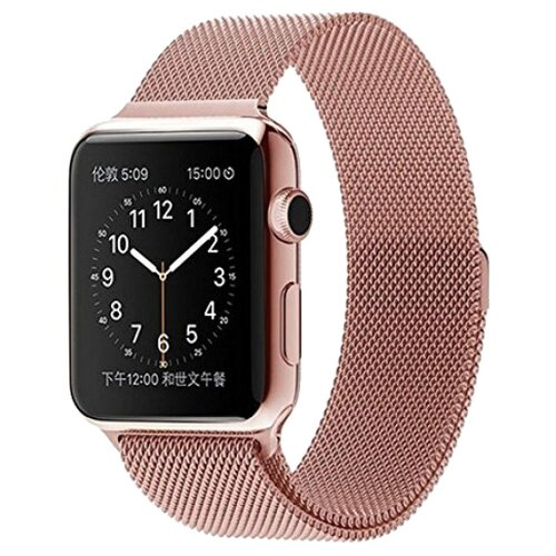 Lemon Tree Ремешок Milanese Loop для Apple Watch 42/44 мм розовое золото