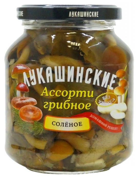 Грибное ассорти ЛУКАШИНСКИЕ соленое