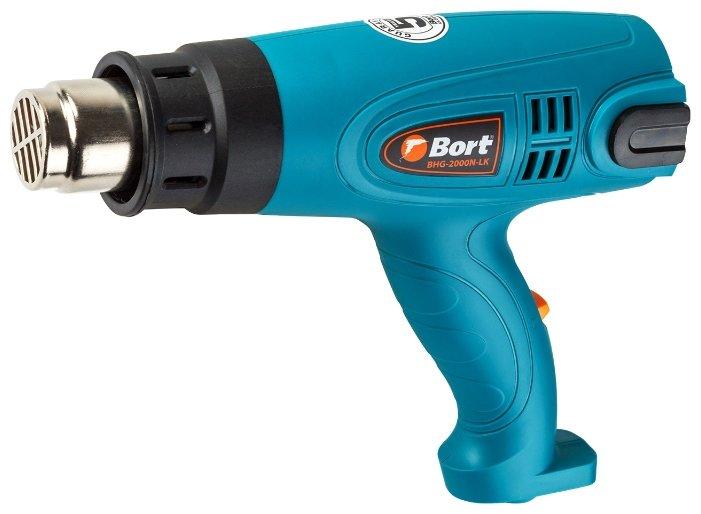 Бытовой строительный фен Bort BHG-2000N-LK Case