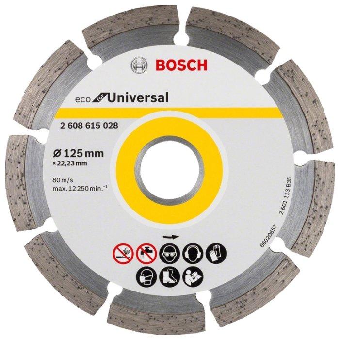 Диск алмазный отрезной 125x22.23 BOSCH Eco for Universal 2608615028