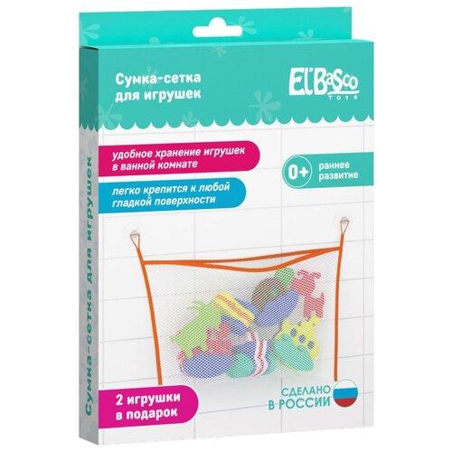 Купить Набор для ванной El'BascoToys Сумка-сетка для игрушек (02-004) красный/зеленый/желтый, Игрушки для ванной