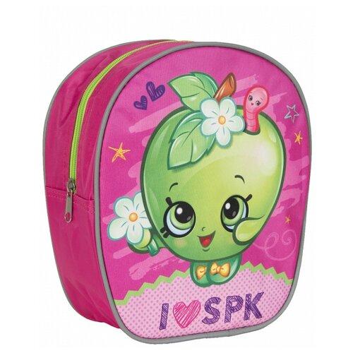 Купить РОСМЭН Рюкзачок малый Шопкинс (31790), розовый/зеленый, Рюкзаки, ранцы