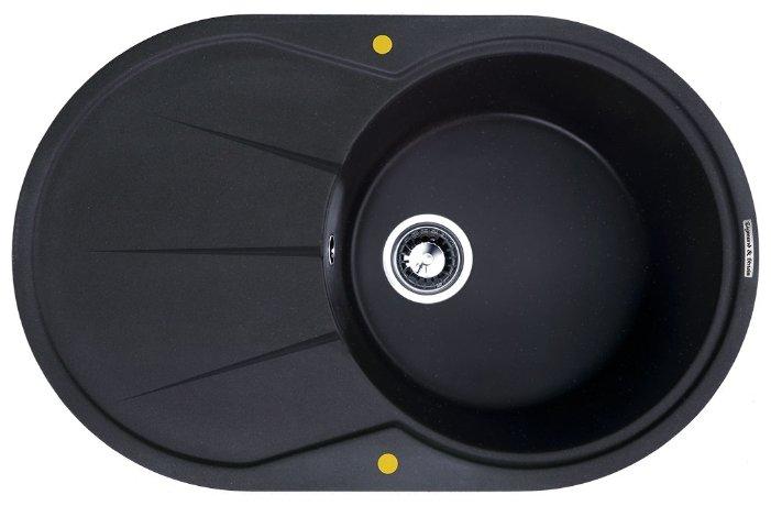 Врезная кухонная мойка Zigmund & Shtain KREIS OV 770 B 77х49.5см искусственный гранит