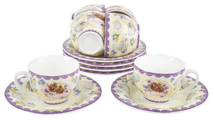 EMILY Сервиз чайный «Антуанетта» 40 предметов на 12 персон, материал: фарфор AL-14-603/40-E5