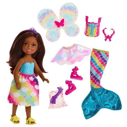Купить Кукла Barbie Дримтопия Челси Фея-русалка Брюнетка, 14 см, FJD01, Куклы и пупсы