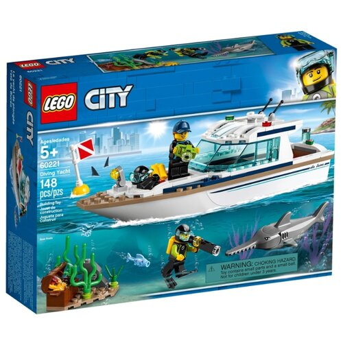 Конструктор LEGO City 60221 Яхта для дайвинга конструктор city lego lego mp002xb00c9t