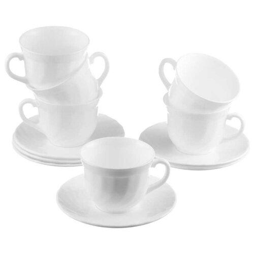 Luminarc Чайный набор Trianon 8 предметов 280 мл чайный набор rosenberg 200 мл 12 предметов