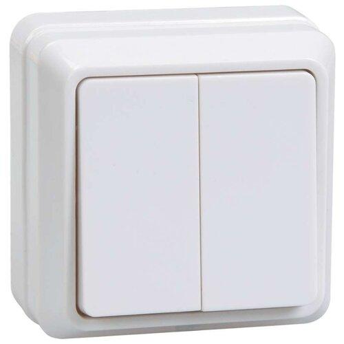 Выключатель 2х1-полюсныйвыключатель / переключатель IEK ОКТАВА EVO20-K01-10-DC,10А, белыйРозетки, выключатели и рамки<br>