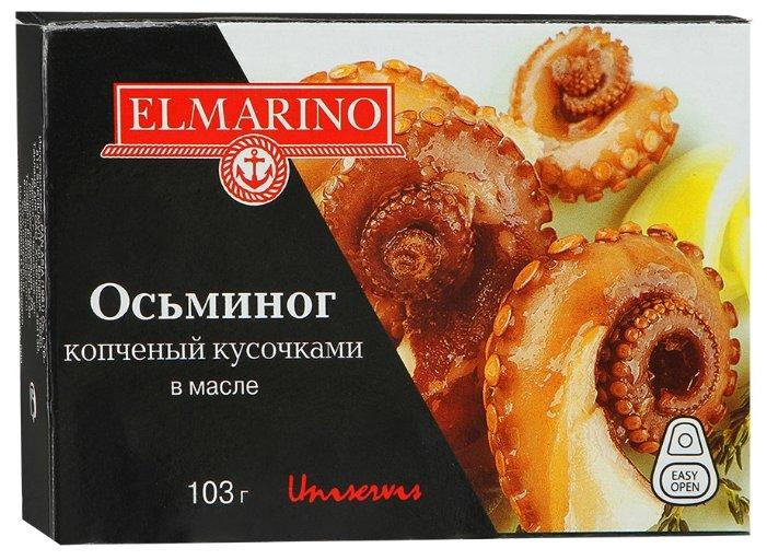 ELMARINO Осьминоги копчёные кусочками в масле, 103 г