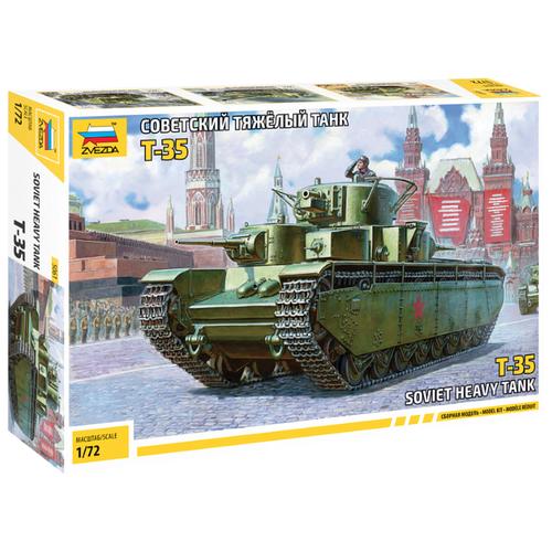 Купить Сборная модель ZVEZDA Советский тяжелый танк Т-35 (5061) 1:72, Сборные модели