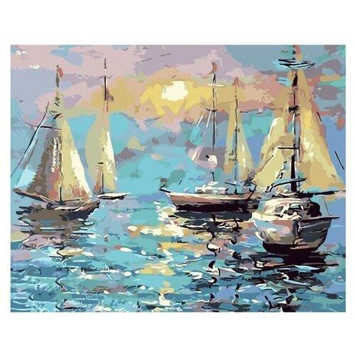 Купить Цветной Картина по номерам Тихая гавань 40х50 см (MG2092), Картины по номерам и контурам