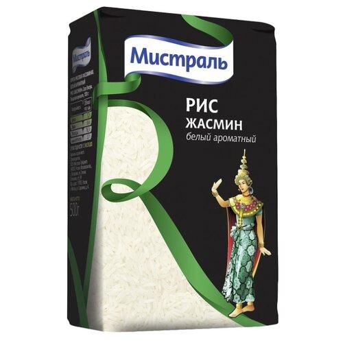 Рис Мистраль Жасмин белый ароматный шлифованный длиннозерный 500 г мистраль рис жасмин мистраль 0 4 кг