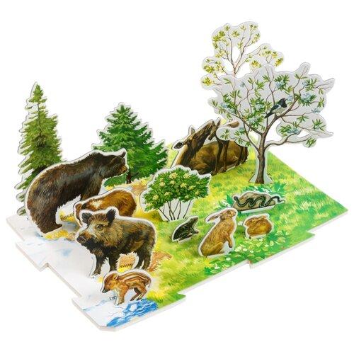 Пазл Умная Бумага Весна в лесу (092), 15 дет. умная бумага пазл для малышей ракета