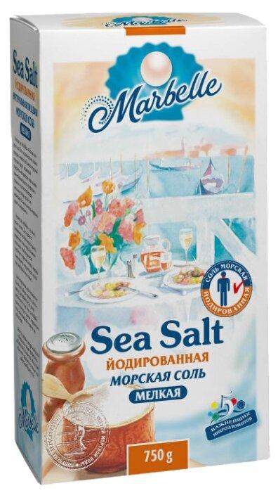 Marbelle Соль морская, йодированная, мелкая, 750 г