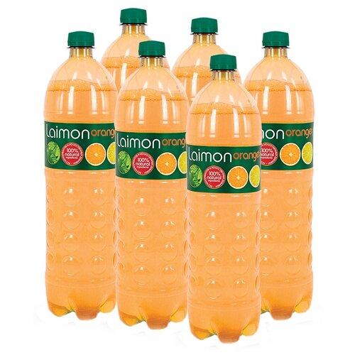 Газированный напиток Laimon Orange, 1.5 л, 6 шт. напиток газированный laimon fresh 1 5 л