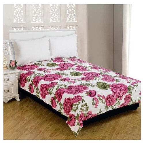 Фото - Плед Amore Mio TCH FN 111 1520 Розы на белом 63232 150 х 200 см, белый/розовый тюль amore mio rr 810503 201 на