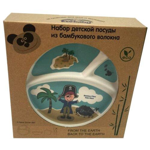 Комплект посуды Eco Baby Пираты мальчик