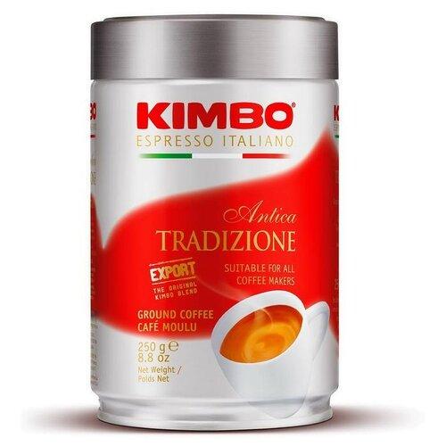 Кофе молотый Kimbo Antica Tradizione жестяная банка, 250 г кофе молотый kimbo espresso napoletano жестяная банка 250 г