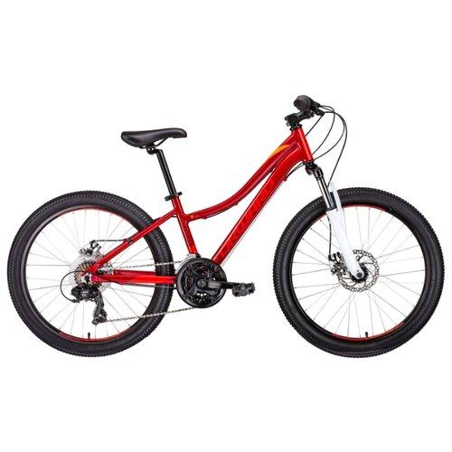 Подростковый горный (MTB) велосипед FORWARD Seido 24 2.0 disc (2019) красный 13 (требует финальной сборки) велосипед forward comanche 2 0 2016