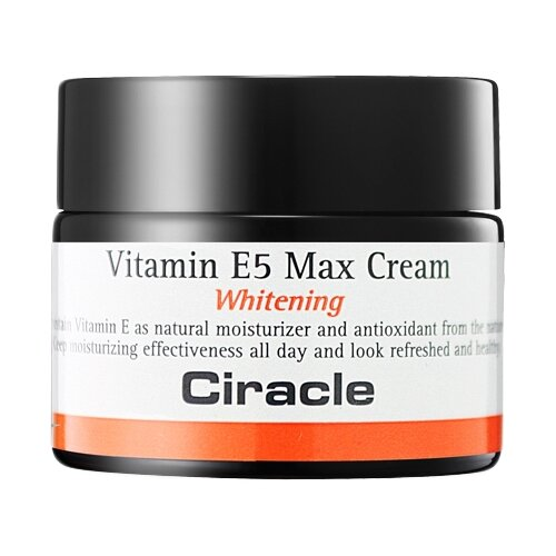 Ciracle Vitamin E5 Max Cream Крем для лица осветляющий, 50 мл сыворотка ciracle vitamin ace sparkling 30 мл