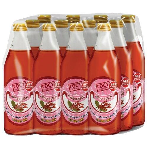 Газированный напиток Старые добрые традиции Барбарисовый, 0.5 л, 12 шт.Лимонады и газированные напитки<br>