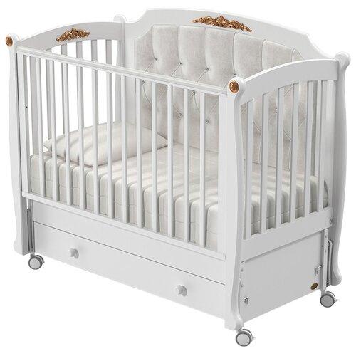 Кроватка Nuovita Furore (качалка), продольный маятник белый кроватка nuovita affetto bianco