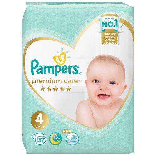Купить Pampers подгузники Premium Care 4 (9-14 кг) 37 шт., Подгузники