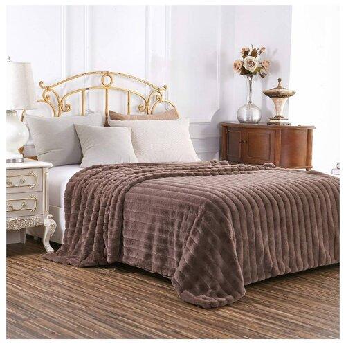 Плед Sofi De MarkO Анабель, 210 x 230 см, шоколад постельное бельё 1 5 сп sofi de marko постельное бельё 1 5 сп