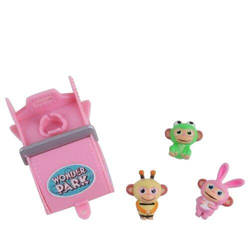 Купить Игровой набор Wonder Park Волшебный парк Джун - Вагончик и 3 обезьянки 1 36263, Игровые наборы и фигурки